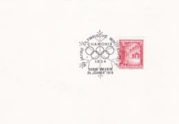 Austria Card Wien 1974 50 Jahre Olympischer Winterspiele Chamonix (G95-34) - Winter 1924: Chamonix