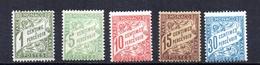Taxes Monaco 1905/09- N° Y&T   1/6 (sans N° 4) Neuf/s -trace De Charniére - Monaco