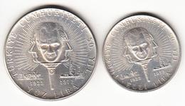TURQUIA  1973. 50º ANIVERSARIO DE LA REVOLUCION DE ATATURK. 50 + 100 LIRAS  TURCAS. PLATA. NUEVA SIN CIRCULAR. CN4375 - Turquia