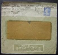 Julien Damoy 1930 La Maison Qui Vend Les Produits Alimentaires De La Meilleure Qualité (Paris) - Postmark Collection (Covers)