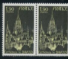 FRANCE    Cathédrale De Bayeux   Paire   N° Y&T  1939  ** - Neufs