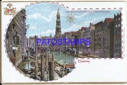 102683 GERMANY HAMBURG ART KATHARINEN STREET & REIMERS BRIDGE POSTAL POSTCARD - Deutschland