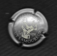 CAPSULE De CHAMPAGNE GUY LAMOUREUX - 10 LES RICEYS  Blanc Sur Fond OR / Légère Rayure !! - Unclassified