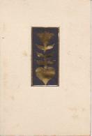 Scherenschnitt  - Schwarz Und Gold - Blume - 1948 (37574) - Papel Chino