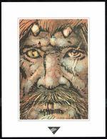 """Visage Extrait D """"LA FORTERESSE DE PIERRE"""" De HAUSMAN, Issu Du Porte-folio Collection """"Aire Libre"""" 1993 (scan 2) - Affiches & Offsets"""