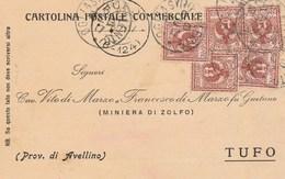 7762.   Cartolina Commerciale - Miniera Di Zolfo - Tufo Avellino Per Ogliastro Cilento Salerno 1917 - Commercio