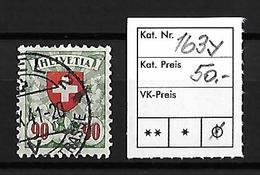 1924-1940 Wappenmuster → Gekreidestes Faserpapier, Glatte Gummierung  ►SBK-163y◄ - Gebraucht
