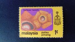 Malaisie Malaysia Malaya Pulau Pinang 1979 Fleur Flower Yvert 74 * MH - Malaysia (1964-...)