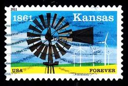 Etats-Unis / United States (Scott No.4493 - Kansas Statehood) (o) - United States