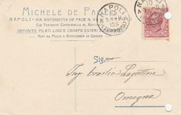 7763 Eb.   Cartolina Commerciale Michele De Paolis Napoli Per Lagostina Omegna Novara 1911 - Commercio