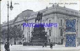 102703 GERMANY BERLIN UNTER DEN LINDEN NEW LIBRARY CIRCULATED TO ARGENTINA POSTAL POSTCARD - Deutschland