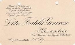 7764 Eb.   Cartolina Commerciale Ditta Fratelli Genovese Alessandria - Commercio