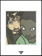 """Visage Extrait De """"BAR DU VIEUX FRANCAIS"""" De STASSEN Et LAPIER Issu Du Porte-folio Collection """"Aire Libre"""" 1993 (scan 2) - Affiches & Offsets"""