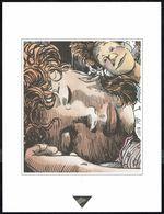 """Visage Extrait De """"LOVA"""" De SERVAIS, Issu Du Porte-folio Collection """"Aire Libre"""" 1993 (scan 2) - Affiches & Offsets"""