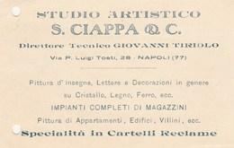 7765 Eb.   Cartolina Pubblicitaria Studio Artistico Ciappa & C. Napoli - Commercio