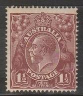 AUSTRALIA Scott # 24 MH - KGV Head - Small Thin - 1913-36 George V: Heads