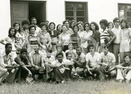 60s  REAL FOTO PHOTO POSTCARD SIZE ALUNOS ALUNAS ANGOLA AFRICA AFRIQUE CARTE POSTALE - Angola