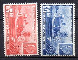 Col10    Inde  N° 126 & 127  Neuf X MH Cote : 1,40 Euro Cote 2015 - India (1892-1954)