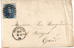 BRIEF NR.11- P24 8B-BRUX-GAND 5.5.1861 ZEER BREDE MARGES-2DE MAAND NA UITGIFTE - 1858-1862 Médaillons (9/12)