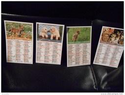 RARE : Lot De 4 Magnets Calendriers Formant L'année 2012 Avec Décor Chatons, Faon, Renard, Et Chiots - Calendriers