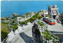 TAORMINA  MESSINA  Castel Mola  Autobus  Posto Di Ristoro Bar - Autobus & Pullman