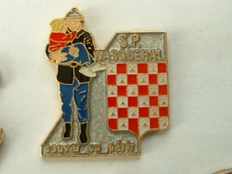 Pin's SAPEURS POMPIERS WASQUEHAL - Feuerwehr
