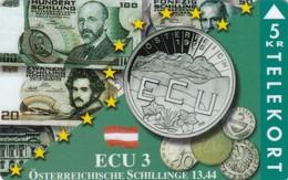 Denmark, P 041, Ecu - Austria, Mint Only 700 Issued, 2 Scans. - Denmark
