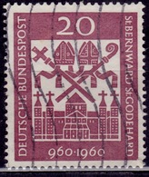 Germany, 1960, Hildesheim Cathedral, 20pf, Sc#817, Used - [7] Federal Republic