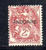 R778 - ANDORRA FRANCESE , Unificato N. 3 * - Andorra Francese