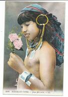 SCENES ET TYPES -  Ethnic NUDE -  JEUNE FILLE ARABE - POITRINE NUE BIJOUX - CARTE TBE VOIR SCANS - Afrique Du Nord (Maghreb)