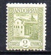 R756 - ANDORRA SPAGNOLA , Unificato N. 15B  ***  Dent 11 1/2 - Andorra Spagnola