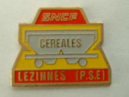 Pin's SNCF - CEREALES - LEZINNES - Transportation