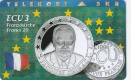 Denmark, P 077, Ecu - France, Coins, Flag, Mint Only 1300 Issued, 2 Scans. - Denmark
