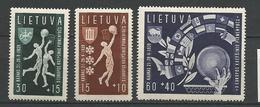 LITUANIE N° 370 à 372 NEUF* TRACE DE CHARNIERE TB / MH - Lithuania