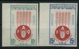 1963 Panama, Campagna Contro La Fame , Serie Non Completa Nuova (**) Non Dentellata - Panama