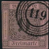 "Württemberg Michel-Nr. 4B - Nummerstempel ""119"" - Wuerttemberg"