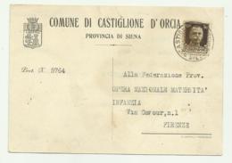 COMUNE DI CASTIGLIONE D'ORCIA ( SIENA )  1940  - FG - Siena