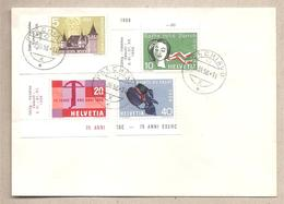 Svizzera - Busta FDC Con Serie Completa: Commemorativi E Di Propaganda - 1958 *G - Suisse