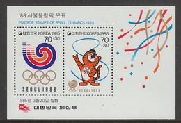 BLOC NEUF DE COREE DU SUD - SEOUL, SIEGE DES JEUX OLYMPIQUES DE 1988 N° Y&T 371 - Sommer 1988: Seoul