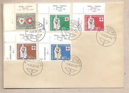 Svizzera - Busta FDC Con Serie Completa: Pro Patria - 1957 *G - Pro Patria