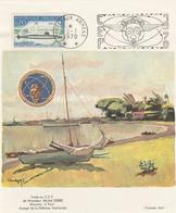 Poste Aux Armées 1970 Tahiti - Flamme CEP Sur Feuillet Pacifique 1er Jour - Visite Michel Debré Ministre Défense - Lettres & Documents