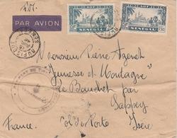 Rufisque Sénégal - Juillet 1942 - Lettre Pour Métropole Isère - Régiment Tirailleurs Sénégalais - !!! Traces De Plis - Marcophilie (Lettres)
