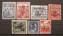 Dt.Reich Besetzungen 1938 - 1945 Aufdruck! Gestempelt&Postfrisch   (M225) - Ocupación 1938 – 45
