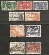 CAYMAN ISLANDS 1937 - 1949 COMMEMORATIVE SETS INCLUDING 1949 UPU SET FINE USED Cat £12+ - Cayman Islands