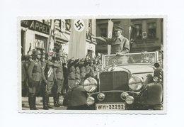 1938 3. Reich Photokarte Der Einzug Des Führers Ins Sudetenland Im Mercedes, Frankiert Gest. Leitmeritz - Germany