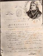 86Dm  Grande Cpa Double Napoléon Bonaparte General En Chef Armée D'Italie Lettre - Politicians & Soldiers
