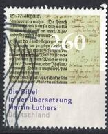 Allemagne 2017 Oblitéré Used Traduction De La Bible Par Martin Luther Théologien SU - [7] République Fédérale