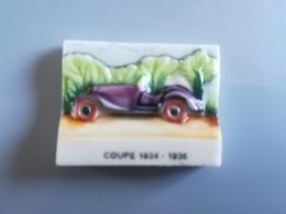 BONNE ROUTE LES ROIS - COUPE 1934 -1936 - FEVE BRILLANTE - LES FEVES SONT MAL EBAVUREES D'ORIGINE - Fèves