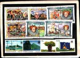 73298)  SANTA LUCIA-LOTTO FRANCOBOLLI -MNH** - St.Lucia (1979-...)