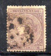 R939 - ANTILLE SPAGNOLE 1868 , Yvert N . 26  Usato. Un Dente Riparato - Antille